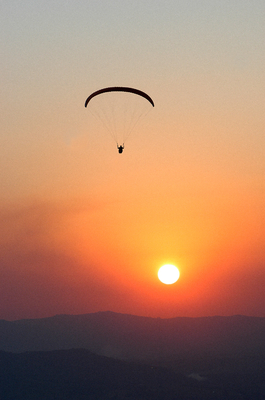 Paraglider Sunset