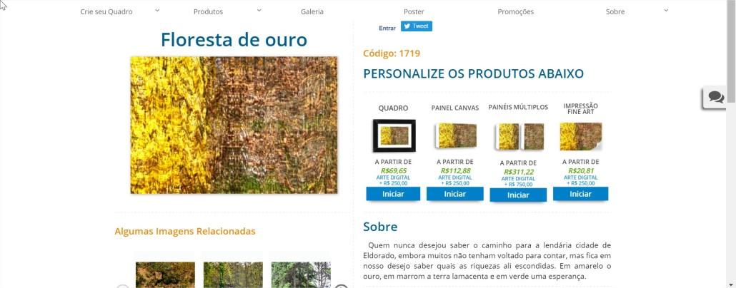 Floresta de ouro PrintHD - Comprar Quadros para Sala - Google Chrome