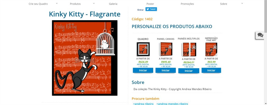 Kinky Kitty - Flagrante PrintHD - Comprar Quadros para Sala - Google Chrome