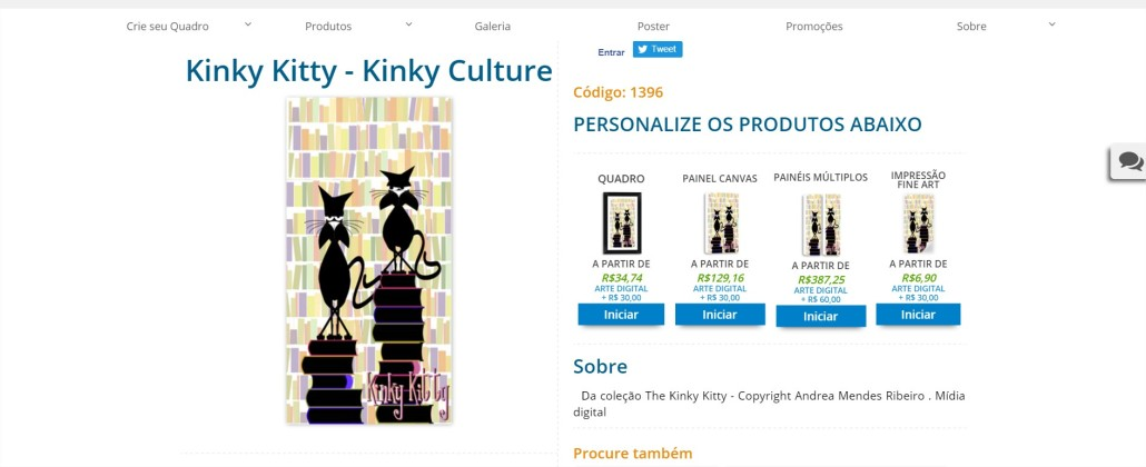 Kinky Kitty - Kinky Culture PrintHD - Comprar Quadros para Sala - Google Chrome