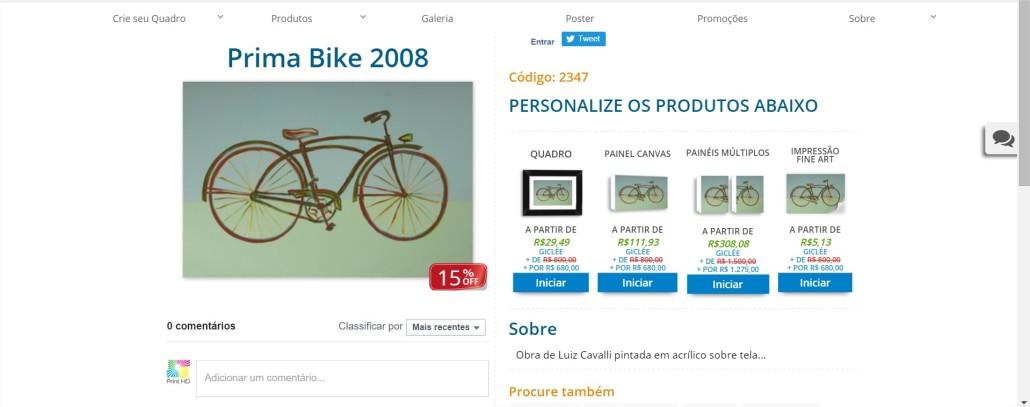 Prima Bike 2008 PrintHD - Comprar Quadros para Sala - Google Chrome