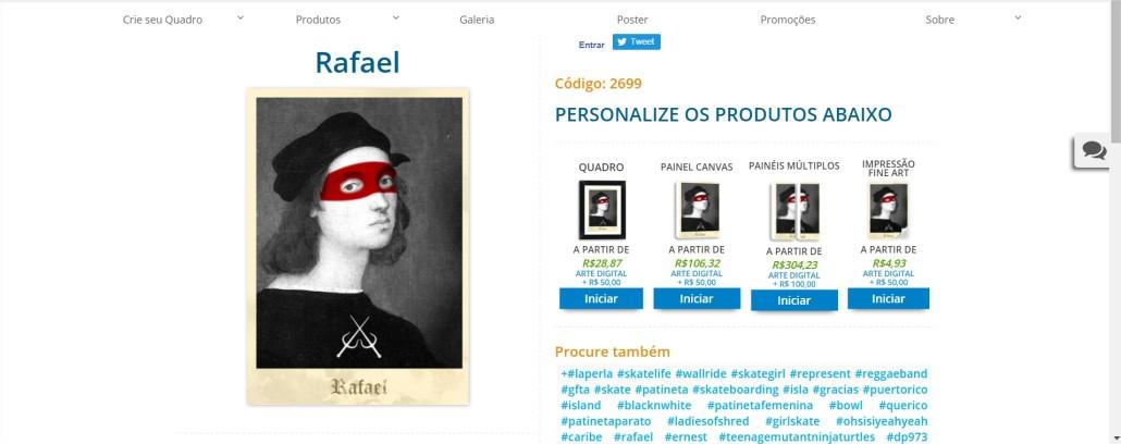 Rafael PrintHD - Comprar Quadros para Sala - Google Chrome