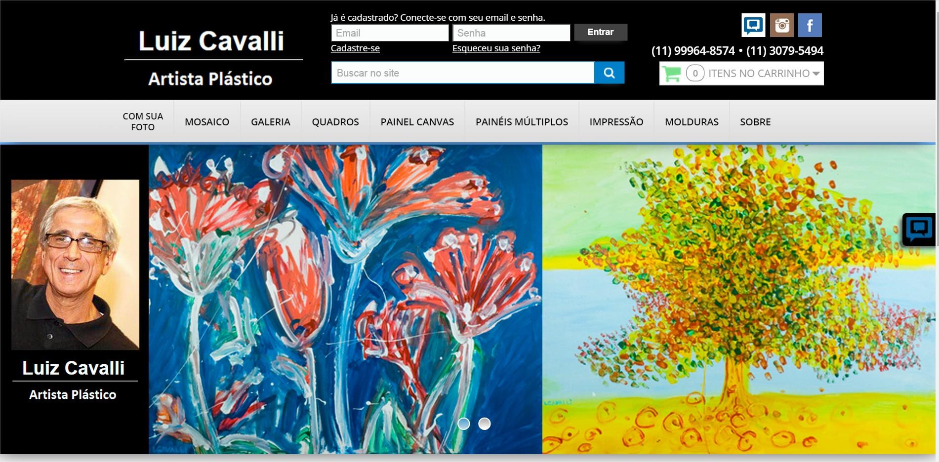 Luiz cavalli Online Quadros - Impressão Fine Art