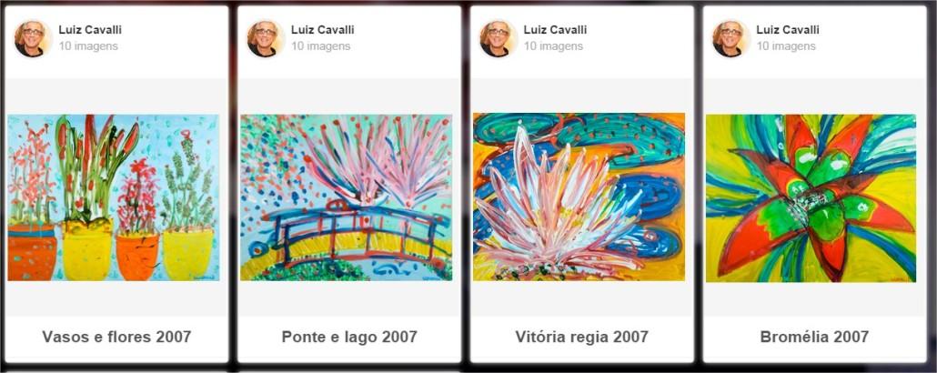 Automóveis, bicicletas, lambretas, carrinhos com vendedores de cocada e cadeiras são imagens recorrentes na pintura de Luiz Cavalli. Sua pincelada, livre e em movimentos circulares, é uma solução plástica feliz para transmitir a ideia de um movimento constante.