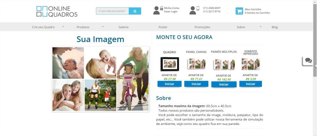 escolha seu quadro online
