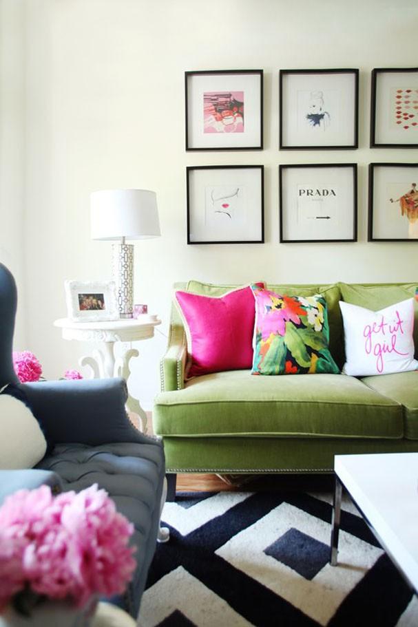 Sala verde e rosa