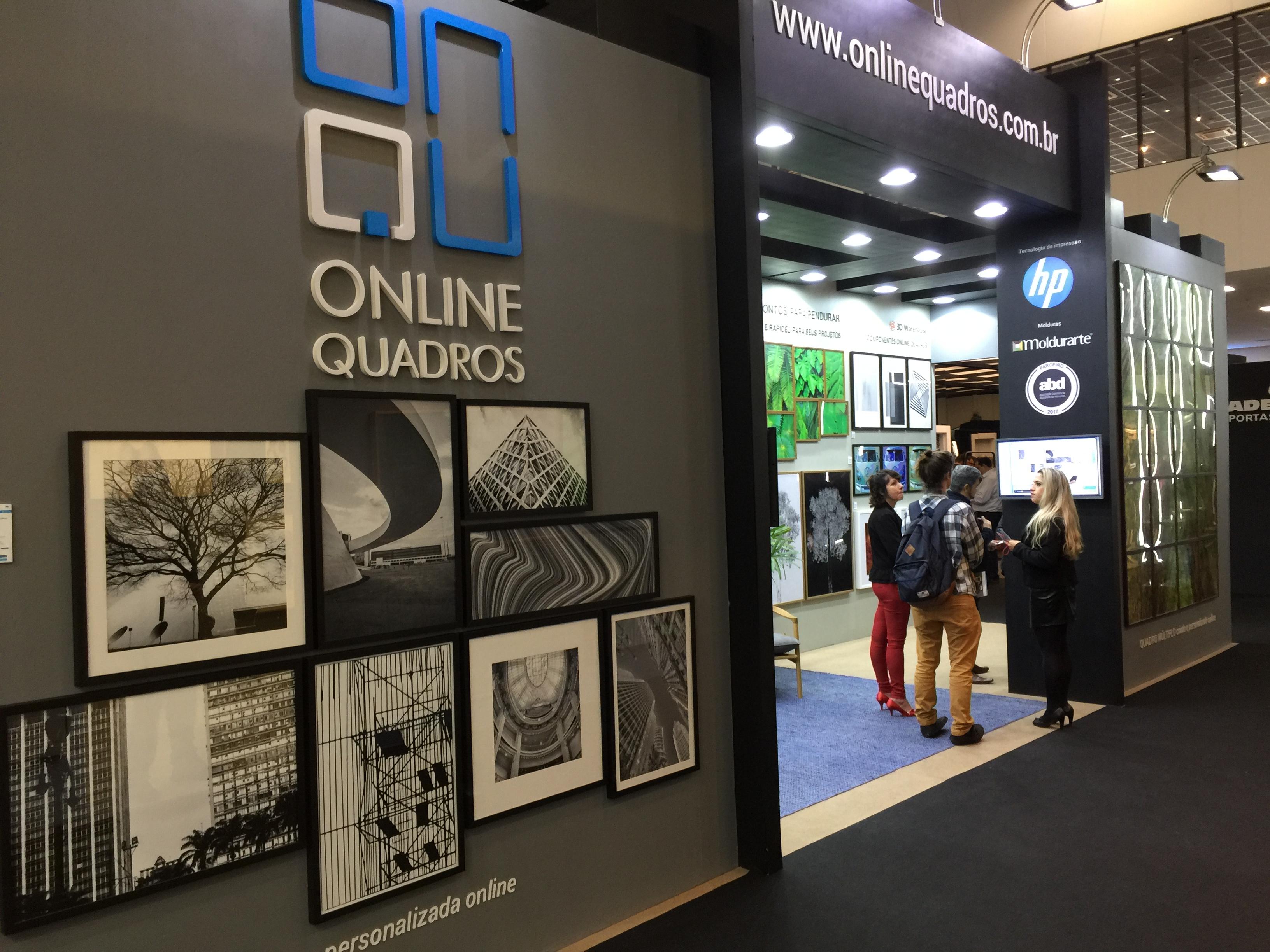 Online Quadros - Stand Feira High Design