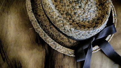 o chapéu marrom