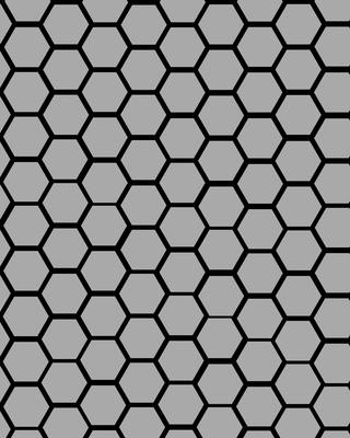 Geométrico hexágonos cinzas