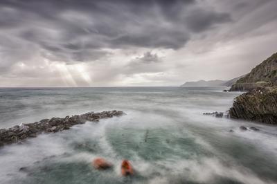 Série Cinque Terre - Armando a chuva em Riomaggiore