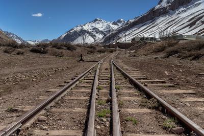 Série Caminhos – Trilhos ao lado da Ponte Inca – Mendoza