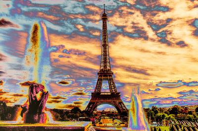 Série Paris - Torre Eiffel Psicodélica