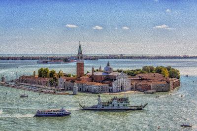 Série Veneza - Pintura de Veneza do Campanário