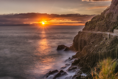 Série Cinque Terre - Por do Sol em Riomaggiore