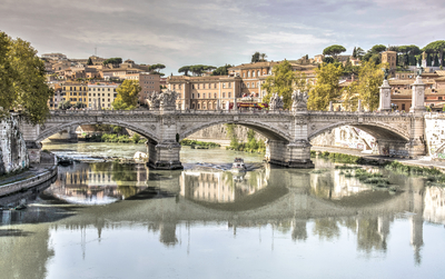 Série Itália - Ponte Vittório Emanuele II em Roma