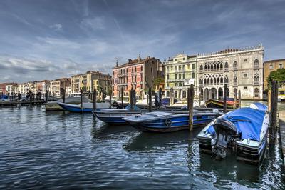 Série Veneza - Barcos no Grand Canal