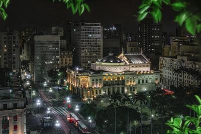 Série São Paulo - Vista Noturna do Terraço da Prefeitura Municipal de São Paulo