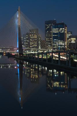 Série São Paulo - Retrato da Ponte Estaiada na Hora Azul