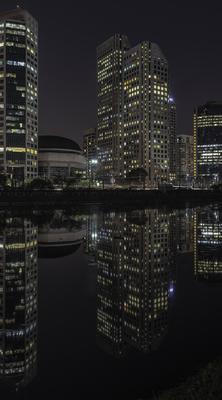 Série São Paulo - Noturna de edifícios e seus reflexos às margens do Rio Pinheiros - 4
