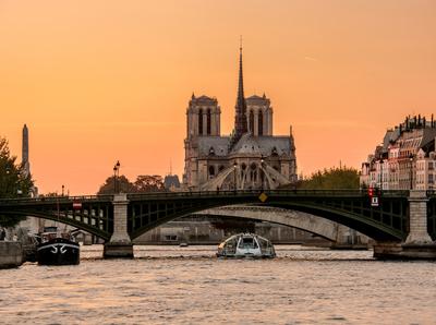 Série Paris - Notre Dame ao cair da tarde