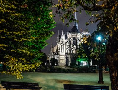 Série Paris - Notre Dame à noite