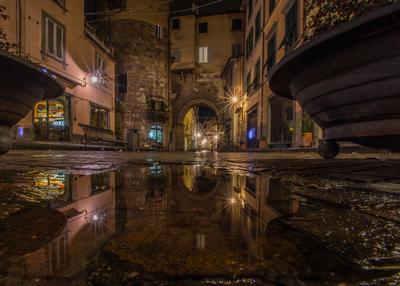 Série Toscana - Poça d'água em Lucca