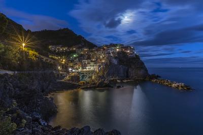 Série Cinque Terre - Manarola à noite
