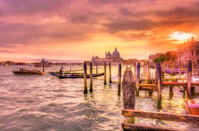 Série Veneza - Por do sol em Veneza