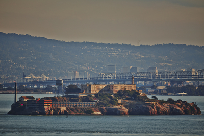 Alcatraz by the bridge