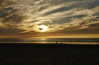 sunset in ocean beach