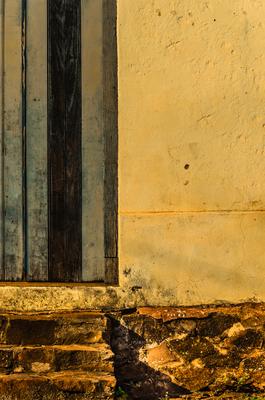 escada e porta