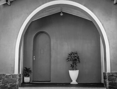 vasos na porta
