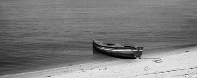 barco na areia
