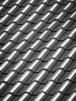 telhas cerâmicas ao sol