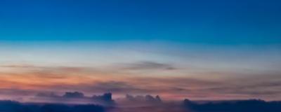 nuvens ao entardecer_em