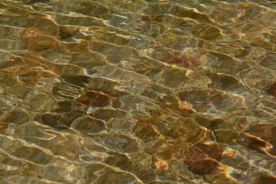 agua com luze do dia