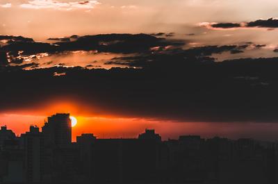 final de tarde urbano
