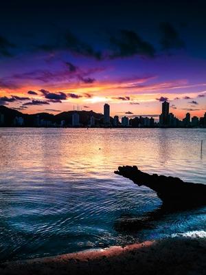 Crepúsculo colorido