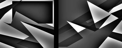 Geométrico Preto e Branco Artista Gloria Rimes