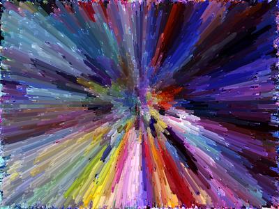 Arte Abstrata Efeitos Coloridos  Artista Gloria Rimes