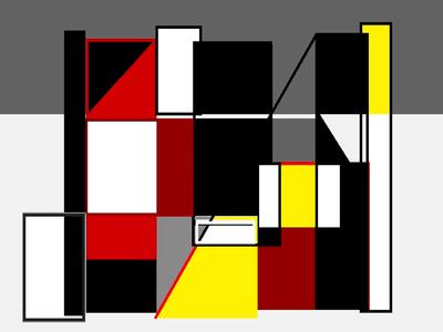 Geométrico Contemporâneo N°1 Artista Gloria Rimes