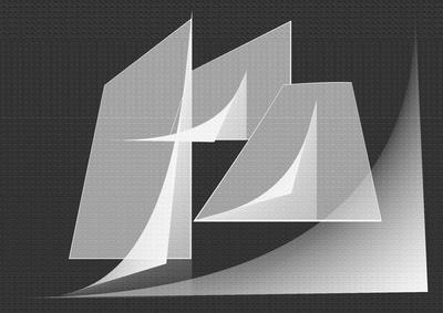 Geométrico Branco e Preto Artista Gloria Rimes