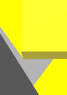 Geométrico Amarelo e Cinza Artista Gloria Rimes