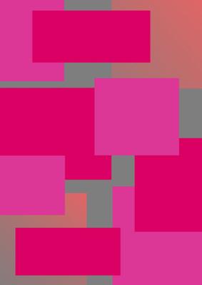 Geométrico Prata e Rosas Artista Gloria Rimes