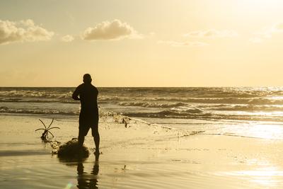 Pescador em Mucuri