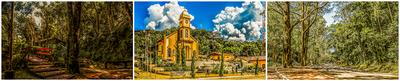 Panorâmica: Fonte São Geraldo,Igreja Matriz e Pista Caminhada e Ciclismo