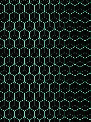 Hexagon Verde Turquesa