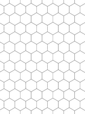 Hex line black white background