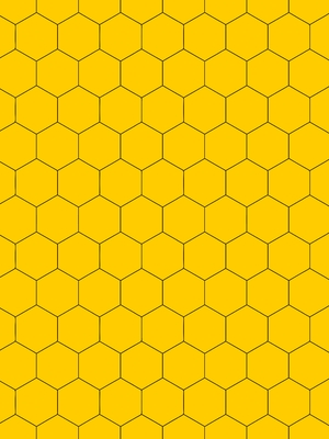 Hex line black yellow background