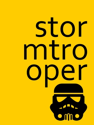 Stormtrooper letters yellow
